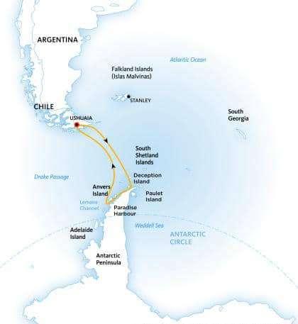 Круизы в Антарктиду, широкий выбор в Минске